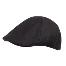 Weatherproof Solid Driving Cap - Wool Blend (For Men) in Black - Closeouts