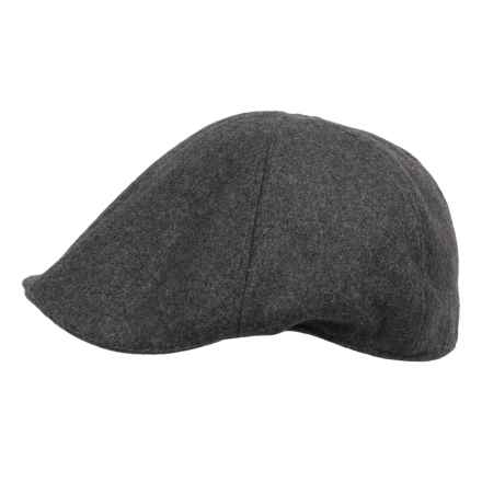 Weatherproof Solid Driving Cap - Wool Blend (For Men) in Charcoal - Closeouts