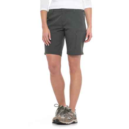 Weatherproof Stretch Shorts (For Women) in Olive - Closeouts