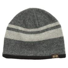 Weatherproof Stripe Beanie - Wool Blend, Fleece Lined (For Men and Women) in Charcoal/Grey - Closeouts