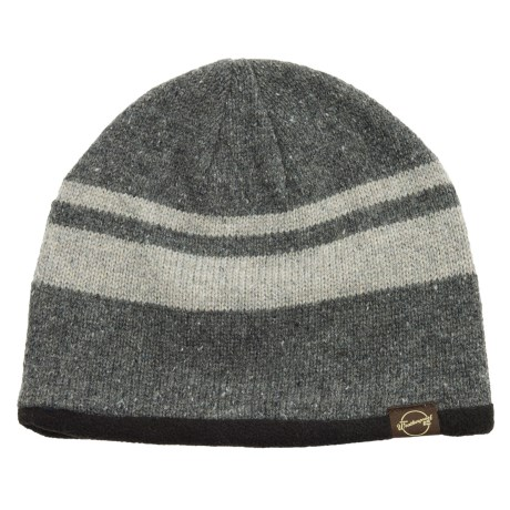 Weatherproof Stripe Beanie - Wool Blend, Fleece Lined (For Men and Women)