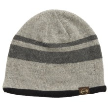 Weatherproof Stripe Beanie - Wool Blend, Fleece Lined (For Men and Women) in Grey/Charcoal - Closeouts