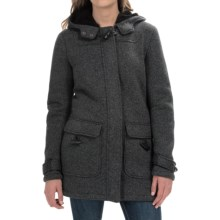 Weatherproof Sweater Fleece Bonded Sherpa Jacket (For Women) in Charcoal - Closeouts