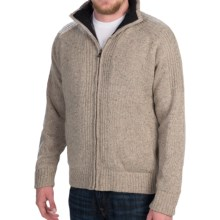 Weatherproof Sweater Jacket - Wool Blend, Full Zip (For Men) in Granite Twill - Closeouts