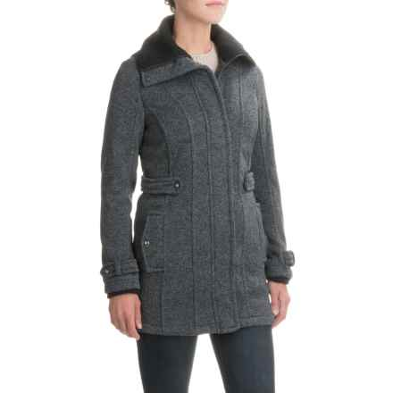 Weatherproof Sweater-Knit Jacket (For Women) in Charcoal - Closeouts