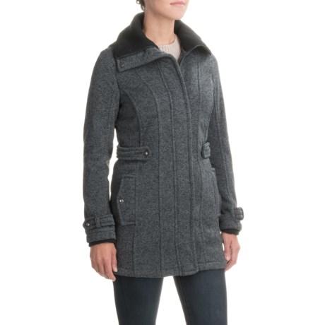 Weatherproof Sweater-Knit Jacket (For Women) in Charcoal