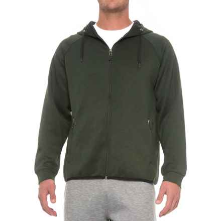 Weatherproof Tech Fleece Hoodie (For Men) in Heather Military Olive - Closeouts