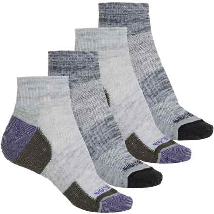 Weatherproof Terry Outdoor Socks - 4-Pack, Quarter Crew (For Women) in Medium Purple - Closeouts