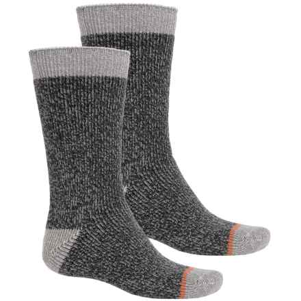 Weatherproof The Ultimate Thermal Cushioned Socks - Crew (For Men) in Black/Grey - Closeouts
