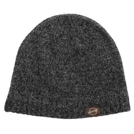 Weatherproof Tweed Beanie - Wool Blend, Fleece Lined (For Men and Women) in Black/Grey - Closeouts