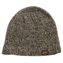 Weatherproof Tweed Beanie - Wool Blend, Fleece Lined (For Men and Women) in Black/Khaki - Closeouts