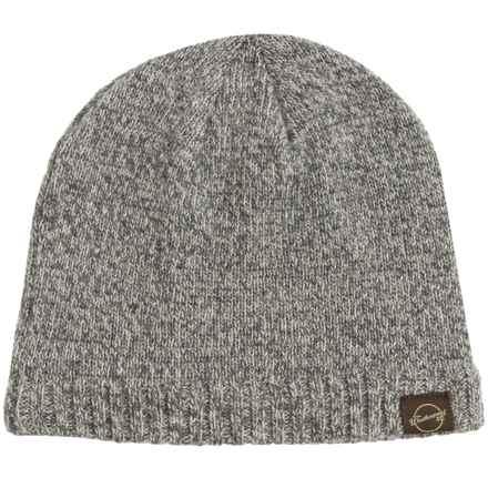 Weatherproof Tweed Beanie - Wool Blend, Fleece Lined (For Men and Women) in Ivory/Grey - Closeouts