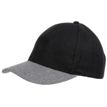 Weatherproof Two-Tone Baseball Cap - Wool Blend (For Men and Women) in Black/Grey - Closeouts