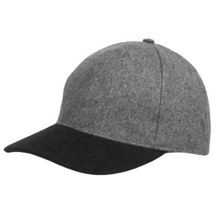 Weatherproof Two-Tone Baseball Cap - Wool Blend (For Men and Women) in Grey/Black - Closeouts