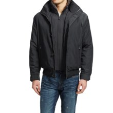 Weatherproof Ultra Oxford Bomber Jacket - Insulated (For Men) in Black - Closeouts