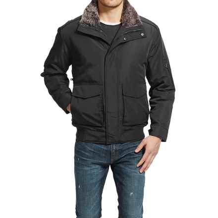Weatherproof Ultra Oxford Knit Bottom Bomber Jacket (For Men) in Black - Closeouts