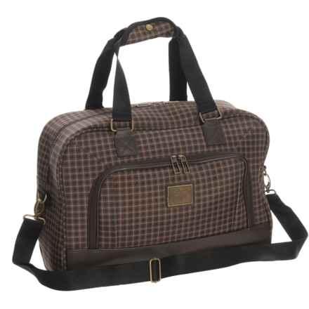 "Weatherproof Vintage 48 Collection Duffel Bag - 17"" in Brown/Dark Brown - Closeouts"