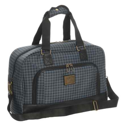 "Weatherproof Vintage 48 Collection Duffel Bag - 17"" in Grey/Black - Closeouts"