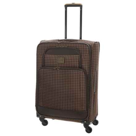 """Weatherproof Vintage 48 Collection Expandable Spinner Suitcase - 24"""" in Brown/Dark Brown - Closeouts"""