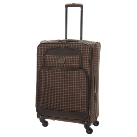 """Weatherproof Vintage 48 Collection Expandable Spinner Suitcase - 24"""" in Brown/Dark Brown"""