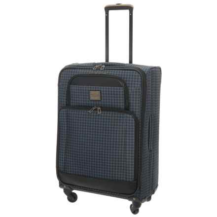 """Weatherproof Vintage 48 Collection Expandable Spinner Suitcase - 28"""" in Grey/Black - Closeouts"""