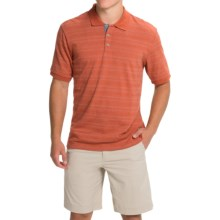 Weatherproof Vintage Jacquard Polo Shirt - Short Sleeve (For Men) in Burnt Brick - Closeouts