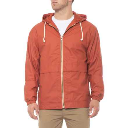 Weatherproof Vintage Vintage Mesh-Lined Hooded Rain Jacket - Waterproof (For Men) in Orange Tea - Closeouts
