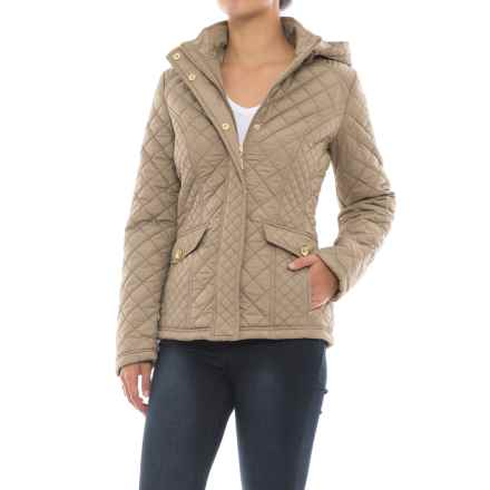 Weatherproof Waist-Length Quilted Jacket - Insulated (For Women) in Cement - Closeouts