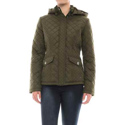 Weatherproof Waist-Length Quilted Jacket - Insulated (For Women) in Leaf - Closeouts