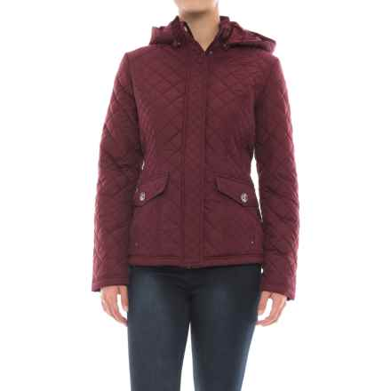 Weatherproof Waist-Length Quilted Jacket - Insulated (For Women) in Wine - Closeouts