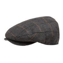 Weatherproof Wigens Driving Cap - Wool Blend, Ear Flaps (For Men) in Charcoal Herringbone/Stripe - Closeouts