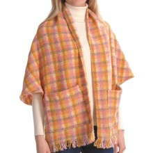Weave of the Irish Pocket Wrap (For Women) in Gold/Pink/Taupe - Closeouts