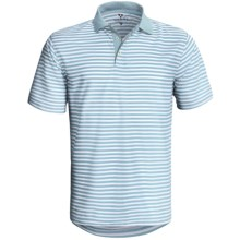 Wedge Athletic Tech Pique Polo Shirt - Short Sleeve (For Men) in Arctic Blue - Closeouts
