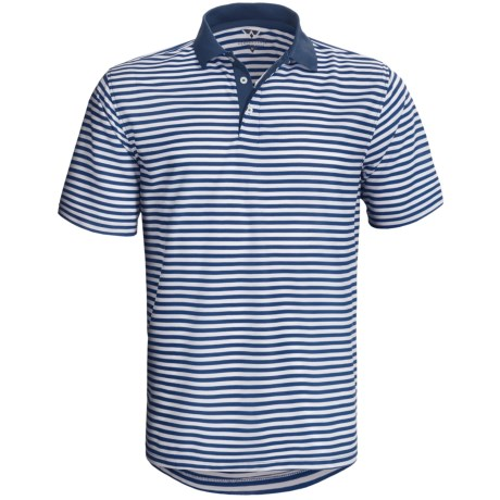 Wedge Athletic Tech Pique Polo Shirt - Short Sleeve (For Men) in Dutch Blue