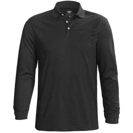 Wedge Golf Polo Shirt - Long Sleeve (For Men) in Black - Closeouts