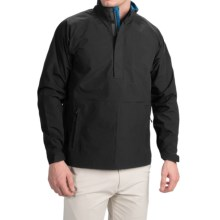Wedge Golf Pullover Jacket - Waterproof, Zip Neck (For Men) in Black - Closeouts