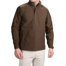 Wedge Golf Pullover Jacket - Waterproof, Zip Neck (For Men) in Brown - Closeouts