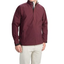 Wedge Golf Pullover Jacket - Waterproof, Zip Neck (For Men) in Burgandy - Closeouts