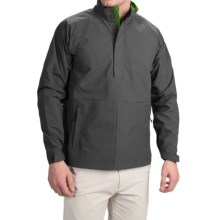 Wedge Golf Pullover Jacket - Waterproof, Zip Neck (For Men) in Charcoal Grey - Closeouts