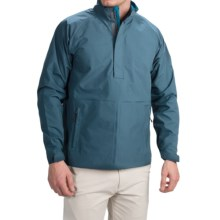 Wedge Golf Pullover Jacket - Waterproof, Zip Neck (For Men) in Dark Blue - Closeouts