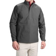 Wedge Golf Pullover Jacket - Waterproof, Zip Neck (For Men) in Dark Grey - Closeouts