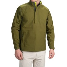 Wedge Golf Pullover Jacket - Waterproof, Zip Neck (For Men) in Dark Olive - Closeouts