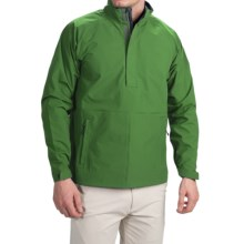 Wedge Golf Pullover Jacket - Waterproof, Zip Neck (For Men) in Green - Closeouts