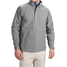 Wedge Golf Pullover Jacket - Waterproof, Zip Neck (For Men) in Light Grey - Closeouts