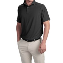 Wedge High-Performance Golf Polo Shirt - Short Sleeve (For Men) in Black - Closeouts
