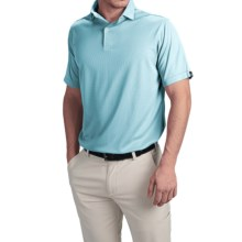 Wedge High-Performance Golf Polo Shirt - Short Sleeve (For Men) in Light Blue - Closeouts