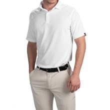Wedge High-Performance Golf Polo Shirt - Short Sleeve (For Men) in White - Closeouts