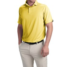 Wedge High-Performance Golf Polo Shirt - Short Sleeve (For Men) in Yellow - Closeouts