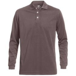 Wedge Mesh Golf Polo Shirt - Long Sleeve (For Men) in Black