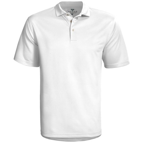 Wedge Sphere High-Performance Polo Shirt - Short Sleeve (For Men) in White